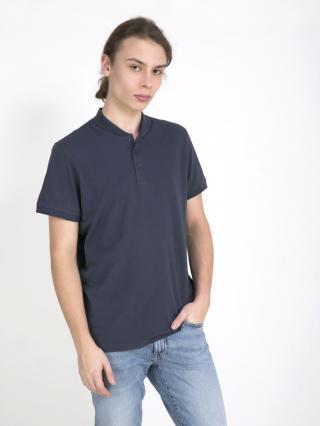 Big Star Mans Shortsleeve Polo T-shirt 154393 -403 pánské Blue M