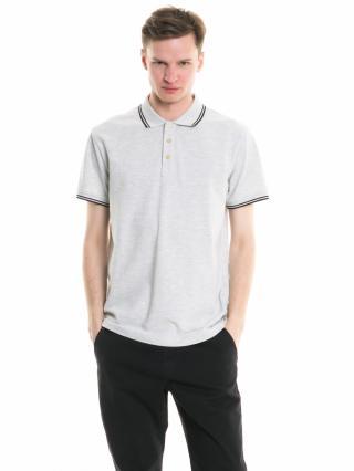 Big Star Mans Shortsleeve Polo T-shirt 154395 Light -984 pánské Grey L