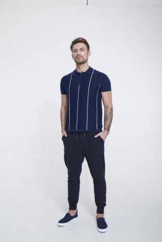 Big Star Mans Shortsleeve Polo T-shirt 154535 -403 pánské Blue XL