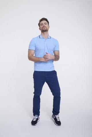 Big Star Mans Shortsleeve Polo T-shirt 154572 -401 pánské Blue M