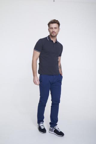 Big Star Mans Shortsleeve Polo T-shirt 154572 -905 pánské Black M