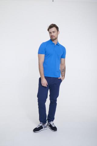 Big Star Mans Shortsleeve Polo T-shirt 154573 -401 pánské Blue S