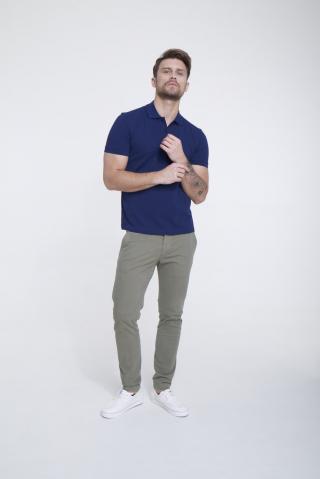 Big Star Mans Shortsleeve Polo T-shirt 154573 -403 pánské Blue S