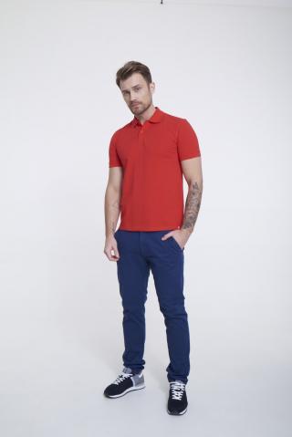 Big Star Mans Shortsleeve Polo T-shirt 154573 -603 pánské Red M