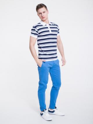 Big Star Mans Shortsleeve Polo T-shirt 154581 -100 pánské White XL