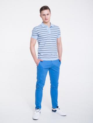 Big Star Mans Shortsleeve Polo T-shirt 154581 -401 pánské Blue M