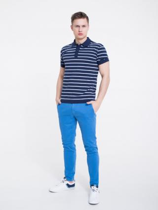 Big Star Mans Shortsleeve Polo T-shirt 154581 -403 pánské Blue L