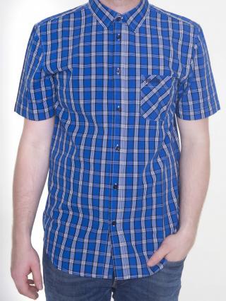 Big Star Mans Shortsleeve Shirt 141553 -405 pánské Blue L