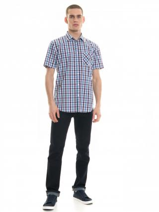 Big Star Mans Shortsleeve Shirt 141665 -401 pánské Blue 3XL