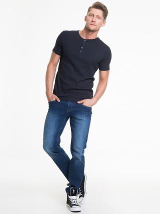 Big Star Mans Shortsleeve T-shirt 150039 Navy Blue-475 pánské S