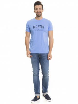 Big Star Mans Shortsleeve T-shirt 150045 -412 pánské Blue M