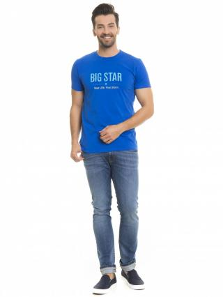 Big Star Mans Shortsleeve T-shirt 150045 Navy Blue-456 pánské L