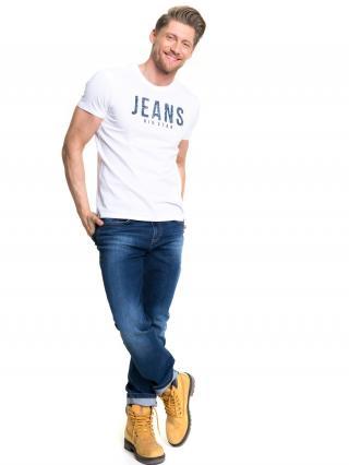 Big Star Mans Shortsleeve T-shirt 154253 -110 pánské White 3XL