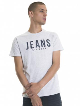 Big Star Mans Shortsleeve T-shirt 154253 Dark -991 pánské Grey 3XL