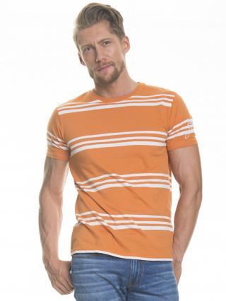 Big Star Mans Shortsleeve T-shirt 154277 -781 pánské Orange S