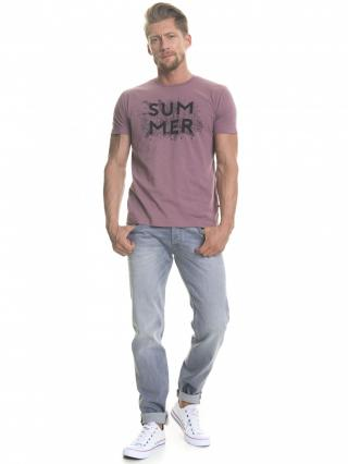 Big Star Mans Shortsleeve T-shirt 154323 Violet-584 pánské Purple XL