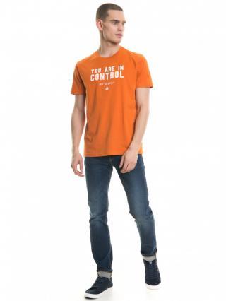 Big Star Mans Shortsleeve T-shirt 154403 -781 pánské Orange XL