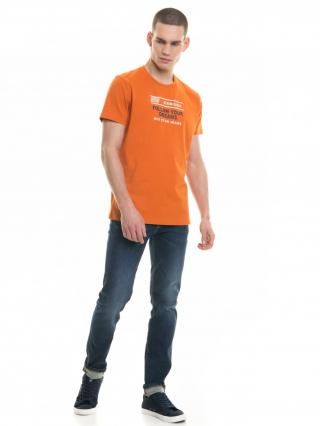 Big Star Mans Shortsleeve T-shirt 154406 -781 pánské Orange L