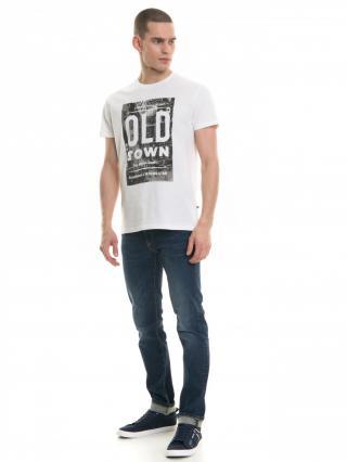 Big Star Mans Shortsleeve T-shirt 154409 -101 pánské Cream XXL