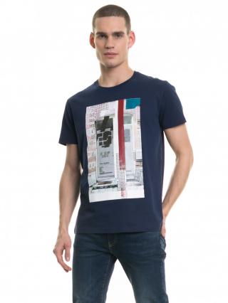 Big Star Mans Shortsleeve T-shirt 154411 Navy Blue-479 pánské L