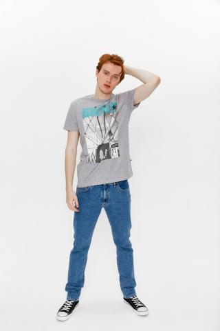 Big Star Mans Shortsleeve T-shirt 154425 -979 pánské Grey XL