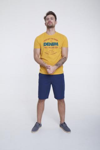 Big Star Mans Shortsleeve T-shirt 154430 -260 pánské Yellow L