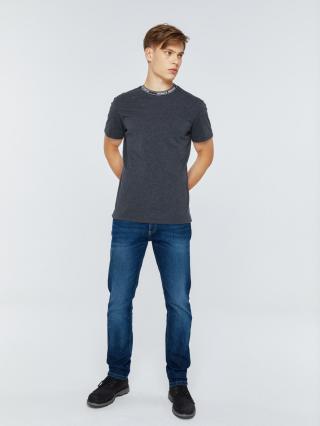 Big Star Mans Shortsleeve T-shirt 154521 Dark -903 pánské Grey M