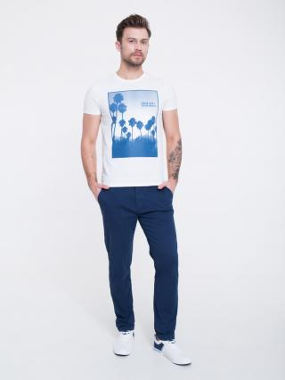 Big Star Mans Shortsleeve T-shirt 154579 -100 pánské White S