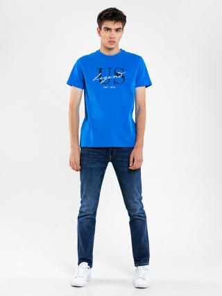 Big Star Mans Shortsleeve T-shirt 154593 -401 pánské Blue XL