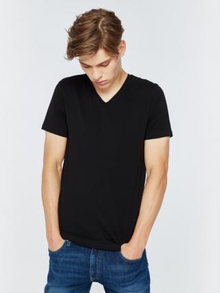 Big Star Mans Shortsleeve V-neck T-shirt 150023 -900 pánské Black S