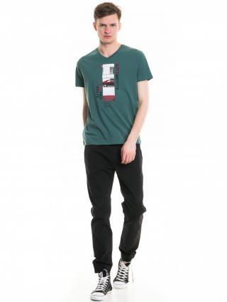 Big Star Mans Shortsleeve V-neck T-shirt 154418 -391 pánské Green XXL