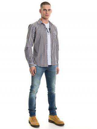 Big Star Mans Slim Longsleeve Shirt 141635 -230 pánské Yellow S