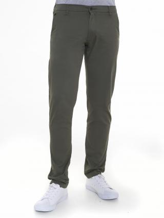 Big Star Mans Slim Trousers 110286 Khaki-341 pánské Green W34 L32