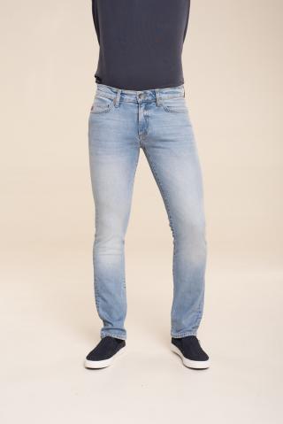 Big Star Mans Slim Trousers 110762 Light Jeans-108 pánské Blue W30 L30
