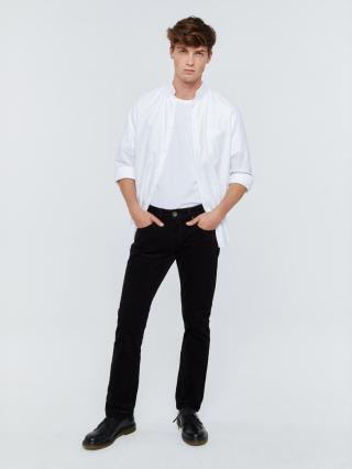 Big Star Mans Slim Trousers 110846 -900 pánské Black W32 L32
