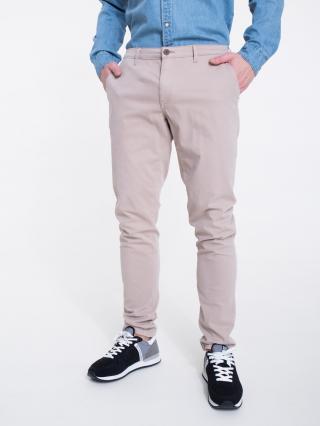 Big Star Mans Slim Trousers 110856 Light -802 pánské Brown W29 L32