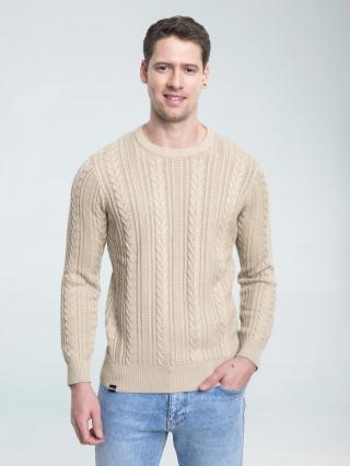 Big Star Mans Sweater 161993 -801 pánské Gold L