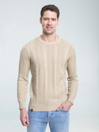 Big Star Mans Sweater 161993 -801 pánské Gold XL