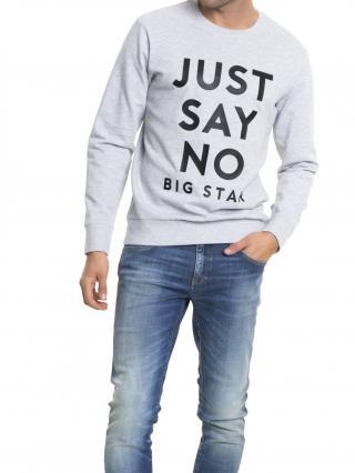 Big Star Mans Sweatshirt 154234 Light -984 pánské Grey L