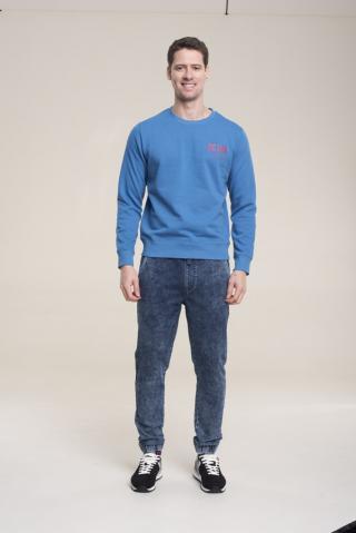 Big Star Mans Sweatshirt 154416 -403 pánské Blue L