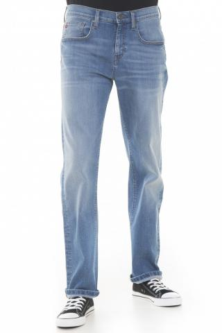 Big Star Mans Trousers 110758 Light Jeans-198 pánské Blue W42 L32
