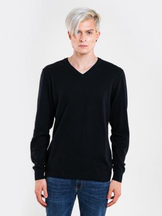Big Star Mans V-neck Sweater 161944 -900 pánské Black XL