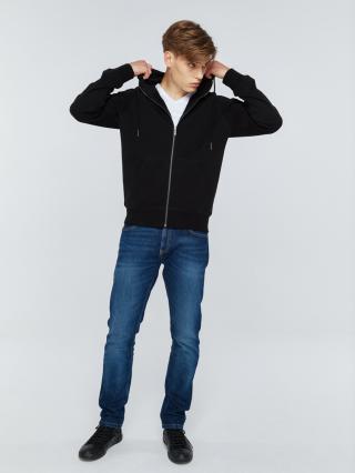 Big Star Mans Zip Hooded Sweatshirt 152500 -906 pánské Black S