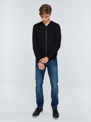 Big Star Mans Zip Sweatshirt 152521 -906 pánské Black S
