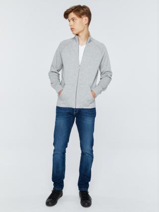 Big Star Mans Zip Sweatshirt 152539 -901 pánské Black XL