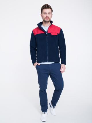 Big Star Mans Zip Sweatshirt 154591 -403 pánské Blue XXL
