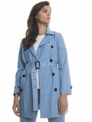 Big Star Womans Coat 131926 Light Jeans-150 dámské Blue M