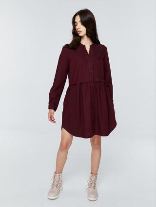 Big Star Womans Dress 340054 Burgundy-604 dámské Red L
