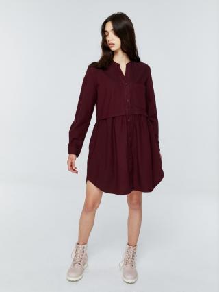 Big Star Womans Dress 340054 Burgundy-604 dámské Red M
