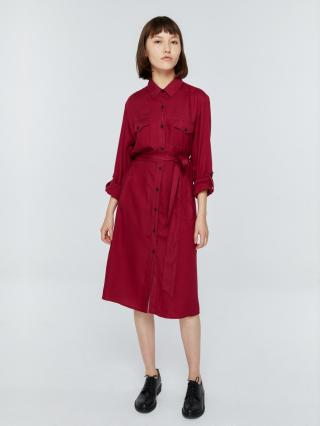 Big Star Womans Dress 340055 Burgundy-604 dámské Red S